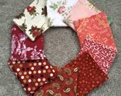 Fabric Destash no. 171, 172 -- 9 Fat Quarters -- All Reds