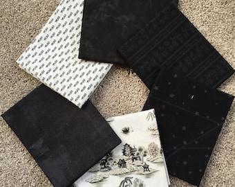 Fabric Destash no. 139, 140 -- 6 Fat Quarters