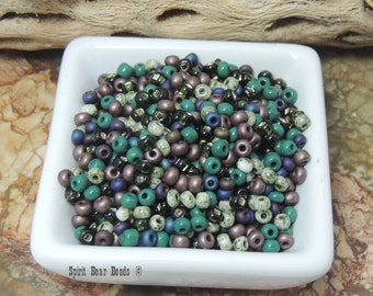 Riders of the Purple Sage Seed Bead Mix  6/0 Czech Glass  Loose Beads