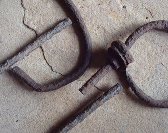 Rusty Metal Textured Clamp & Handles Found Objects Supplies for Assemblage, Altered Art , Sculpture - Industrial Salvage