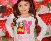 Christmas Presents Personalized Appliqued T-shirt