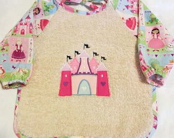 Princess Castle Sleeved Bib - 6 months to 2T