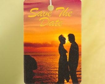 Save The Date Air Freshener, Sunset