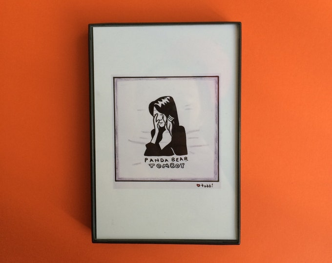 Panda Bear, Tomboy, Art, Print, 4 x 6 inches, music, record cover, album art, illustration, vinyl junkie, gift idea, wall decor