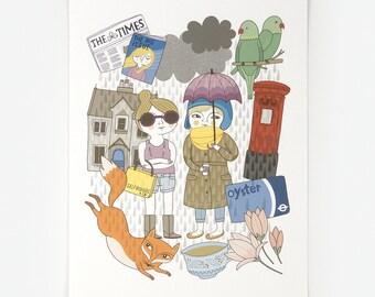 London Life - Giclee Print