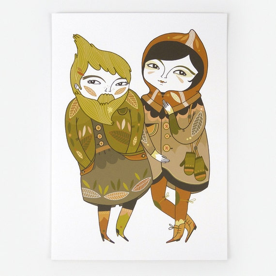 Looking For Snowdrops - Giclee Print