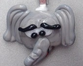 LILY BUG BEADS Handmade Lampwork Elephant Vessel Essential Oil Diffuser