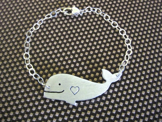 Happy Heart Whale Bracelet