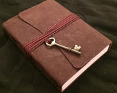 Matte Chocolate brown goatskin leather soft cover sketch journal (medium)