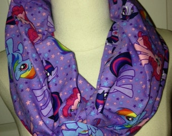 MLP My Little Pony Purple Comic Book Cover Circle Infinity Scarf