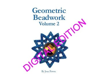 Beading pattern/ beading tutorial digital e-book for seed beadweaving - Geometric Beadwork Volume 2