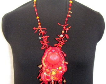 Necklace  Red Sea collection -Wearable Art OOAK
