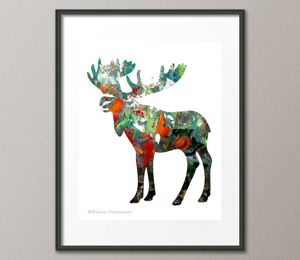 fine art print moose wild animals wilderness country living