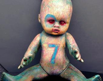 Laurie Geller Handmade Re-Purposed Art Doll...7