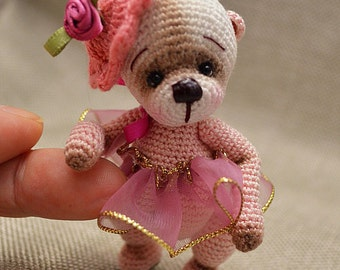 "Ailsa, 3.5""Thread Crochet Bear, Digital Pattern by Chantal Bears"
