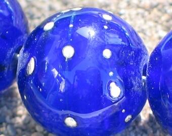 Lampwork Beads, Cobalt Blue