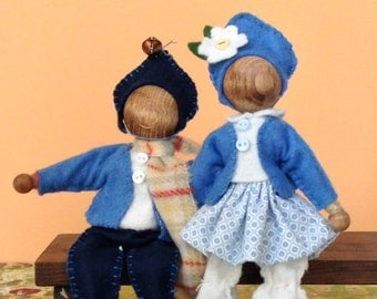 Little Spirits, custom made doll, wooden bendy doll, dollhouse dolls