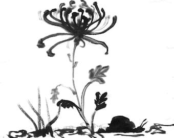 Digital print of Chrysanthemum in painting