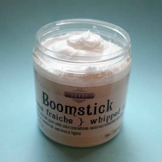whipped soap for men boomstick 8 oz creme fraiche vegan. Black Bedroom Furniture Sets. Home Design Ideas