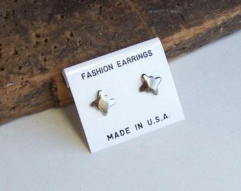 Butterfly Earrings, Silver Earrings, New Old Stock, Vintage Post Earrings, Silver Plated, Tiny Earring, Etsy, Etsy Jewelry, Vintage Earrings