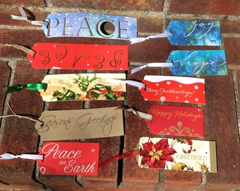 Lot 10 Christmas Words Gift Tags