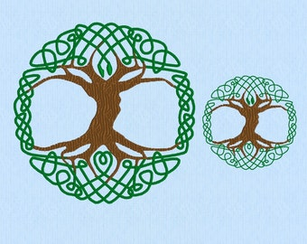 Celtic Tree of Life machine embroidery design file in two sizes