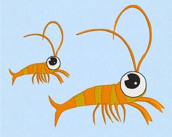 Lobster Machine Embroidery Design File in 2 sizes