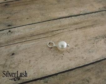 Swarovski Pearl Add-On Charm Option for Personalized Custom Jewelry