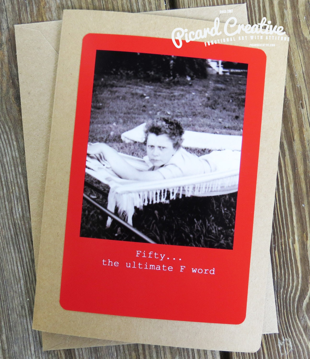 Funny 50th Birthday Greeting Card Fifty The Ultimate F Word