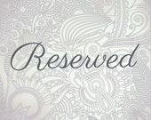 Reserved for Mallory // Ketubah Marriage Certificate