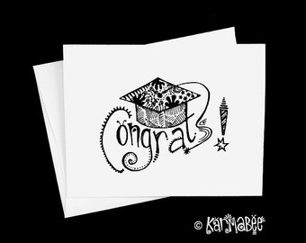 Graduation Card Congrats Notecard Blank Inside Single Card