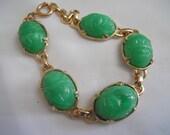SALE! Vintage Scarab Bracelet