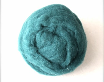 Polypay Wool Roving for Spinning -- Spruce 14 -- 4 oz.