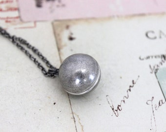 ball necklace. silver ox jewelry