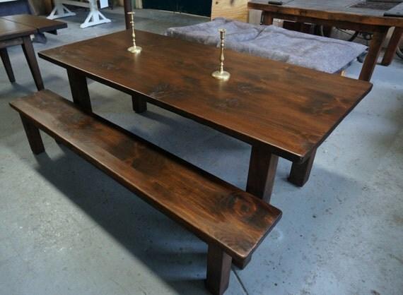 Farm Table: Custom Built Modern Style Dining