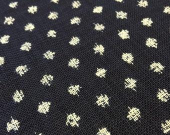 "Sevenberry big dot ""kasuri"" style navy indigo blue Japanese cotton fabric"