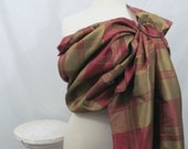 Double Layer Silk Ring Sling - Vibrant Plaid - 100% dupioni silk - DVD included
