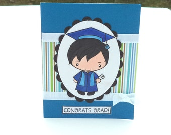 Graduation Card, Handmade Greeting Card, Male Graduation Card, Congratulations Card, High School or College Graduation