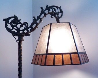 Mica Lamp Shade Replacement for your Antique Vintage Bridge Floor Lamp NYM Arts