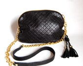 "AW13 Leather bag in ""quilted"" embossed leather - chain strap"