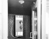 Vintage Telephone Booth, Take a Picture, in a telephone booth,  Zero for Operator, Black and White, Dial Clockwise, Telecommunications ,fPOE