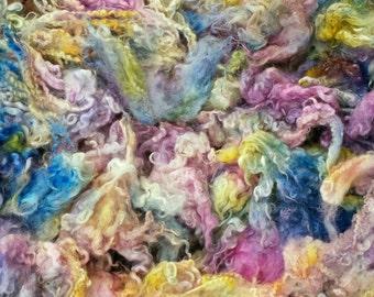 Fleece sale buy 3 get 1 free hand dyed English Garden locks curls 2 oz.