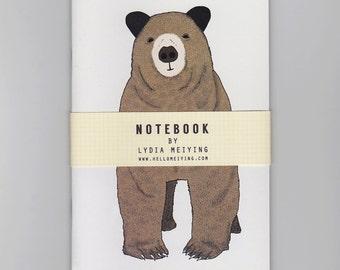 A6 Mini Notebook - Toby - A cute brown bear