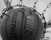 Black and white photo,Sports decor, basketball photo, basketball art, man cave decor