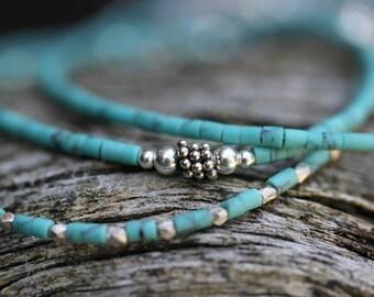 Turquoise Skinny Stacking Bracelets
