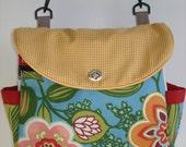 Two-Way Expandable Tote Bag, Project Bag, School Bag, Handmade Canvas Bag-ALOHA