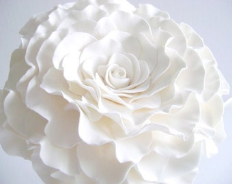 Single Flower Bouquet Glamelia Bouquet white Rose Bridal Bouquet Bridesmaids Flowers