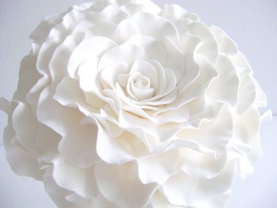 Single Flower Bouquet Glamelia Bouquet white Rose Bridal
