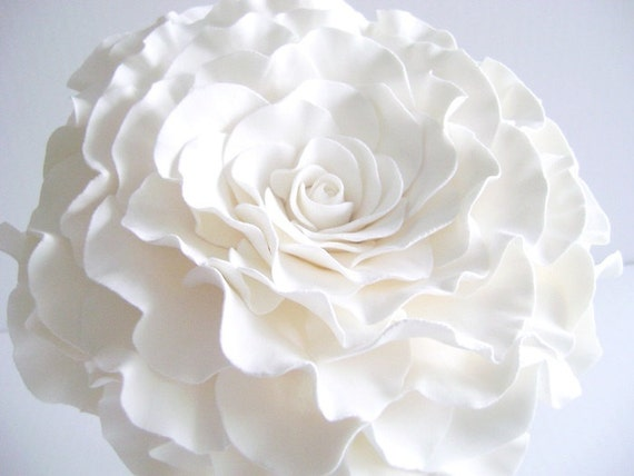 Wedding Bouquets Single Flower : Single flower bouquet glamelia white rose bridal