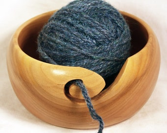 Handmade Sour Cherry Wooden Yarn Bowl